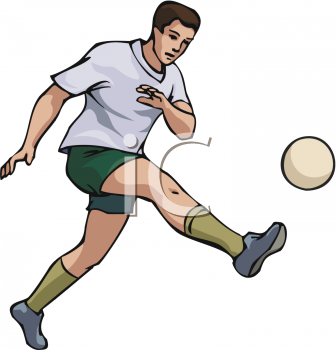 Someone Playing Soccer Clipart