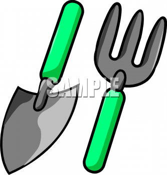 Royalty free shovel clipart for Gardening tools clipart