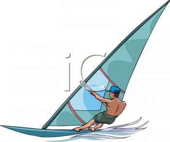 Royalty Free Windsurfing Clipart