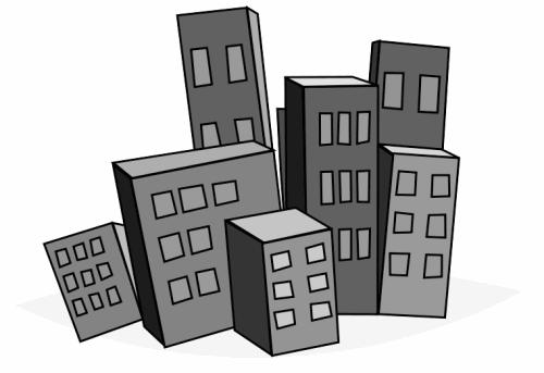 free skyscraper clipart - public domain buildings clip art, images